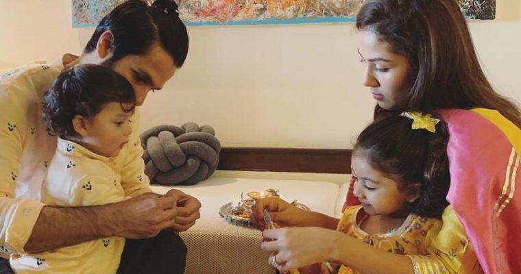 Adorable Pictures of Star Kids Zain and Misha celebrating Raksha Bandhan