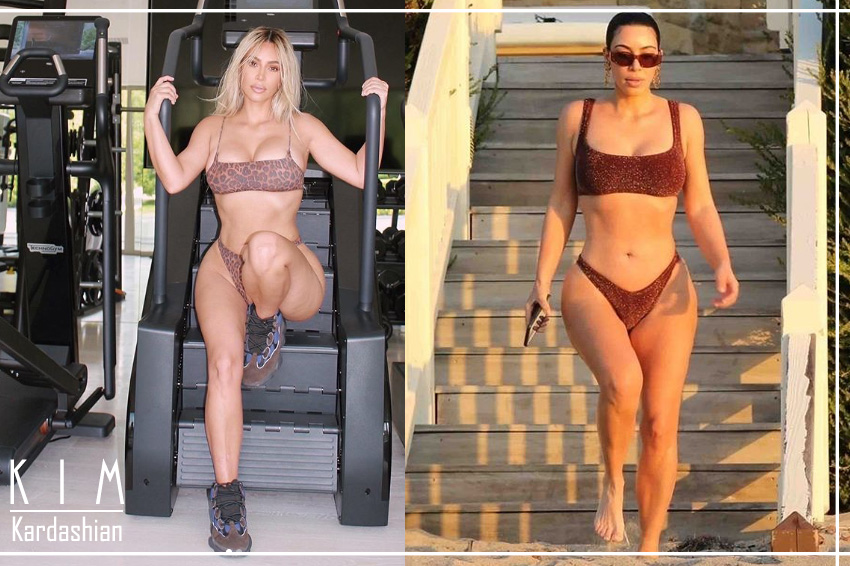 Kim Kardashian Workout in Bikini Only During the Isolation