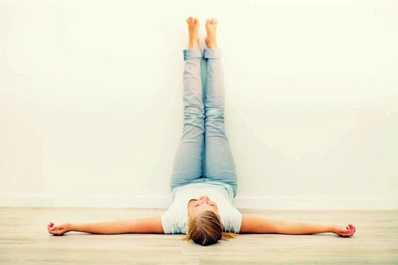 legs up the wall pose | exercise to sleep