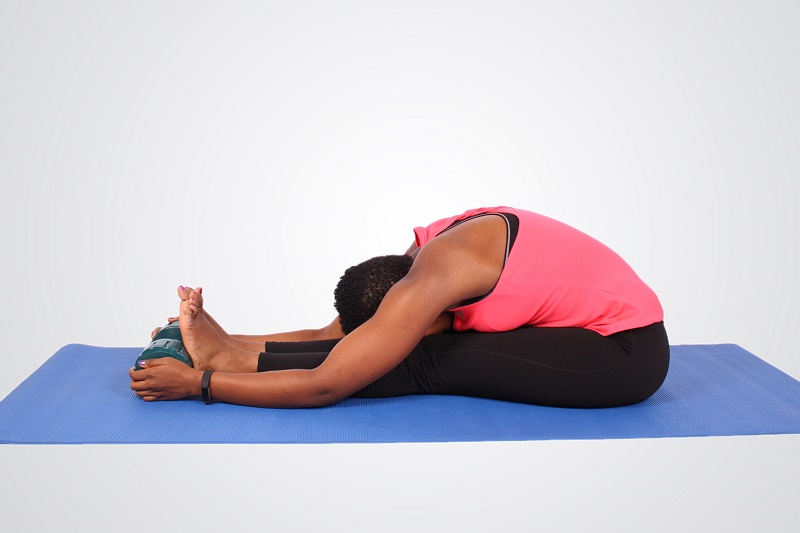 seated forward bend exercise pose | sleep better
