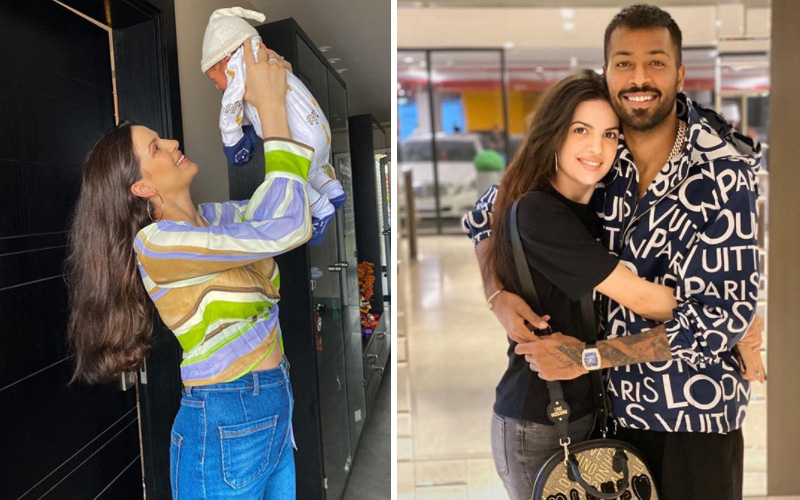 Hardik Pandya wife Natasa Stankovic Adorable Pics with Her Baby Boy